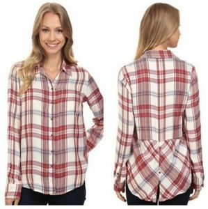 LUCKY BRAND long-sleeved shirt with checked button